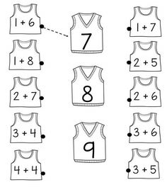 math fun math worksheet for kids English Worksheets For Kids, Kindergarten Math Worksheets, Preschool Learning Activities, Preschool Math, Math Classroom, Teaching Math, Math Worksheets For Kindergarten, Addition Worksheets, Kids Worksheets