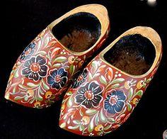 Painted wooden clogs  (Dutch)