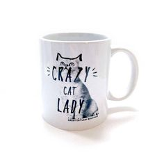 Cat Mug Crazy Cat Lady Mug with Gift Box Cat Lover Gift