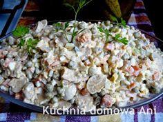 Kuchnia domowa Ani: Sałatka jarzynowa z pieczarkami