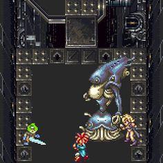 Crono + Frog Dual Tech: Spire - Chrono Trigger (SNES/Super Nintendo)