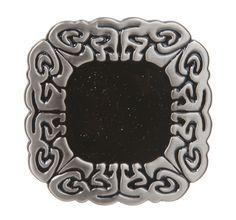 Western Square Engraving Black Enamel Belt Buckle