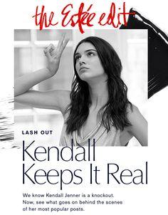 On Set with Kendall. The Estée Edit. Sent: Jan 23, 2015 #emails #newsletters #esteelauder