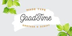 MADE Goodtime Free Font is a monoline script and grotesk font that both work great together or alone. This delicious duo contains 2 fonts, to make sur...