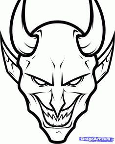 How to Draw Devil Face – Graffiti World Badass Drawings, Demon Drawings, Creepy Drawings, Dark Art Drawings, Art Drawings Sketches, Easy Graffiti Drawings, Satan Drawing, Reaper Drawing, Skull Stencil