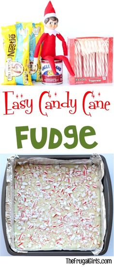 Easy Fudge Recipe! 3 Ingredients Candy Cane Fudge is the perfect Peppermint treat to serve at your Christmas parties, holiday dessert tables, and such a sweet little gift for friends and neighbors!  Give it a try and you'll see why!