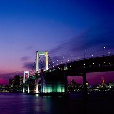 The Rainbow Bridge Tokyo. Japan.