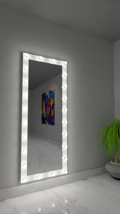 Dimmable Dressing Accent Mirror -Aydan Dimmable Dressing Accent Mirror - Tall Dream Vanity – Buy Dream Vanities Thank you so much for featuring for our Marilyn Hollywood Mirror. Cute Room Decor, Teen Room Decor, Room Decor Bedroom, Full Length Mirror In Bedroom, Full Body Mirror, Dressing Room Mirror, Dressing Table, Bedroom Decor On A Budget, Glam Room