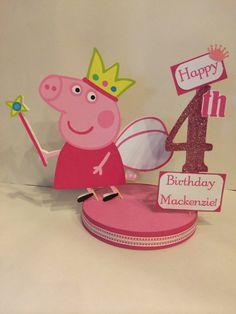 Peppa Pig Fairy Princess Custom Birthday by SplendidCelebration, $19.25