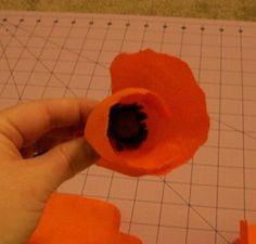 crepe paper poppies tutorial ... wanna make super big ones
