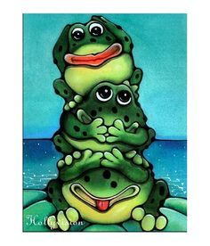 Three+Frogs by+HollyvisionArt