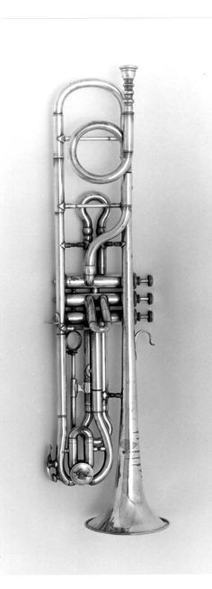 Valved trumpet in F. Mahillon, Brussels, c 1885, 2321   Musical Instruments: Brass