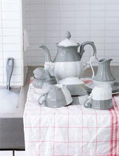 donner du style à la porcelaine blanche retrouvée au fond du placard