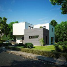 Finde eine große Auswahl an Häusern mit Dachterrasse beim klicken auf das Bild und weitere Häuser von verschiedenen Anbietern auf ___ www.Fertighaus.de ____ hausbau, neubau, terrasse, rooftop, sonnendeck, view, flachdach, fertighaus, massivhaus, hausvergleich