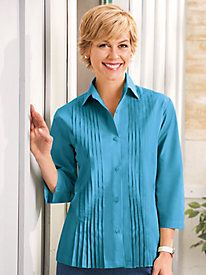 American Sweetheart® Pleated Blouse