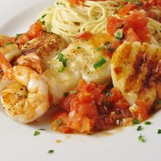 "Alaskan Cod and Shrimp with Fresh Tomato I ""This is now my FAVORITE recipe! So easy to make and tasted great."""