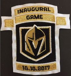 fc003a453 The Hockey Company GOLDEN KNIGHTS PATCH INAUGURAL GAME 10-10-2017 STANLEY  CUP LAS VEGAS - Vegas Fan Shop
