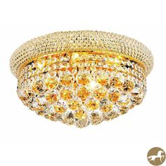 Christopher Knight Home Geneva 8-light Royal Cut Crystal and Gold Flush Mount - Overstock™ Shopping - Big Discounts on Christopher Knight Home Flush Mounts