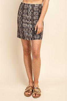 8c60ed972680 Snake Fray Hem Skirt. Snake Fray Hem Skirt – Robin's Unique Boutique