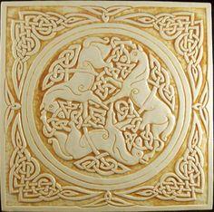 celtic horse tile