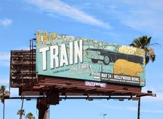 Train: Picasso at the wheel summer tour billboard