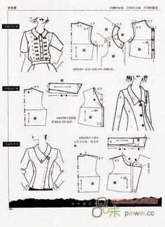 Archivo de álbumes Collar Pattern, Jacket Pattern, Blouse Patterns, Clothing Patterns, Barbie Patterns, Sewing Patterns, Sewing Hacks, Sewing Tutorials, Dress Making Patterns
