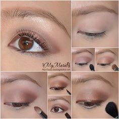 RAVISHING ROMANTIC: easy step-by-step soft sultry light brown smokey eyes makeup tutorial - www. Light Smokey Eye, Smokey Eye For Brown Eyes, Makeup For Brown Eyes, Brown Smokey Eye Makeup Tutorial, Beauty Tips For Women, Day Makeup, Bh Cosmetics, Pink Lips, Insta Makeup