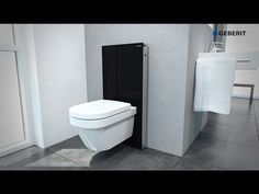 Geberit Monolith Sanitärmodul mit Wandablauf Geberit Monolith Sanitary module with wall drainage ID 2023233 Please note: Videos do not replace installation m.