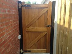 Timber Side Gate installed at the side of a property in Cottingham by Swan Gates Tor Design, Gate Design, Wooden Garden Gate, Garden Gates, Garden Projects, Wood Projects, Timber Gates, Side Gates, East Yorkshire