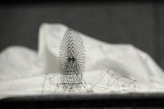 """This is insane! Click on the photo to see his other even cooler pieces. """"Topographical Maps Carved from Electrical Tape and Intricate Thread Sculptures by Takahiro Iwasaki."""""""