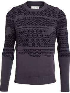 MAISON MARTIN MARGIELA - Fair Isle Cotton Knit Sweater 4