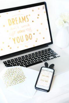 Free Download // Dreams Don't Work Unless You Do // Computer Desktop & iPhone Wallpaper
