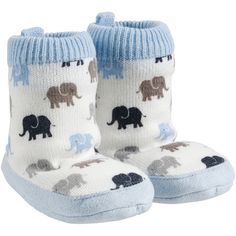 Carter's Slipper Socks Carter's ($11) ❤ liked on Polyvore featuring intimates, hosiery, socks, baby, baby boy, shoes and carters socks