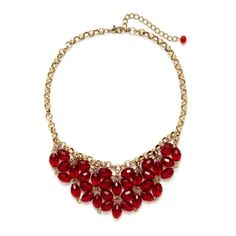 Leslie Danzis Antique Gold Crystal Bib Necklace ❤ liked on Polyvore