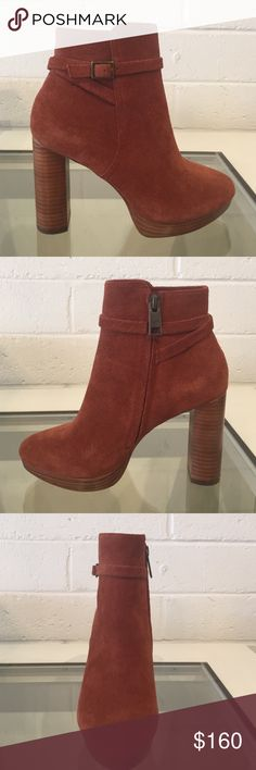 Joie Denez Booties Rust Colored Suede Joie Booties. Joie Shoes Ankle Boots & Booties