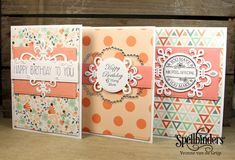 Make this! Fleurs and Flourishes cards Sapphire Die Set | Spellbinders