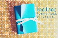 Ching Makes Things!: Tutorial: DIY leather journal