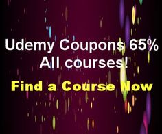 Udemy Coupons 65% All courses!