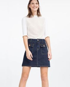 Discover the new ZARA collection online. Zara Tops, Sixties Fashion, Zara New, High Neck Top, White Outfits, Summer Wear, Casual Looks, Casual Wear, Chic Outfits