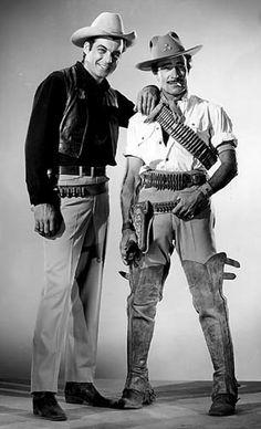Rory Calhoun & Gilbert Roland in the RKO western The Treasure of Pancho Villa