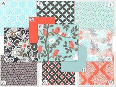 Top girl pick for sure!!  Custom Crib Bedding - Sorbet in Coral, Aqua and Gray. $238.00, via Etsy.