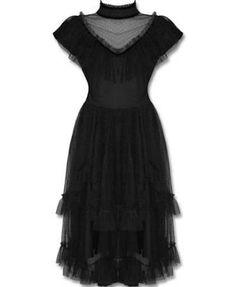 Steam punk black dress