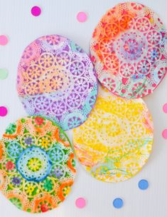 paper craft doily easter eggs