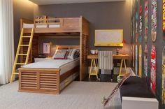 Decoração de quartos de crianças com cama no alto