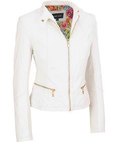 Black Rivet Womens Fully Lined Faux-Leather Scuba Jacket W  Knit Inset 02eebf1c40