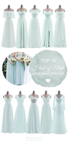 light mint bridesmaid dresses romantic wedding lace details with long sleeves Chiffon. Custom made to all sizes, perfect fitting and fast shipping.#bridesmaids #bridesmaiddresses bridesmaid dresses mismatched | light mint color Schemes