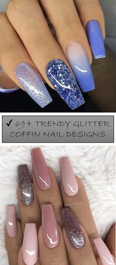 Nails - more stunning trends on nail examples. This ingenious post imagined on this creative day 20191207 Nails Now, Aycrlic Nails, Pink Nails, Glitter Nails, Cute Nails, Pink Nail Salon, Best Acrylic Nails, Finger, Heart Nails