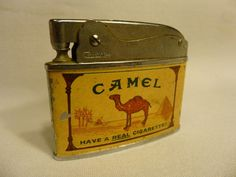 Coronet Camel Cigarette Lighter Have A Real Cigarette vintage Advertising #Lighter #VintageLighter