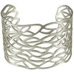 Vogue Silver Tone Fashion Bangle ($27) ❤ liked on Polyvore featuring jewelry, bracelets, bracelets bangle, bangle jewelry, hinged bracelet, silver tone jewelry and silvertone jewelry