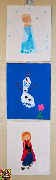 Disney Frozen Footprints, Elsa Footprint, Olaf Footprint, Anna Footprint